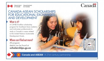 OPEN NOW! ASEAN-Canada Scholarships and Educational Exchanges for Development (SEED)